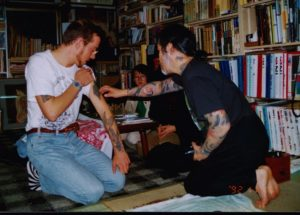 consulting with Horiyoshi - tattoo japan